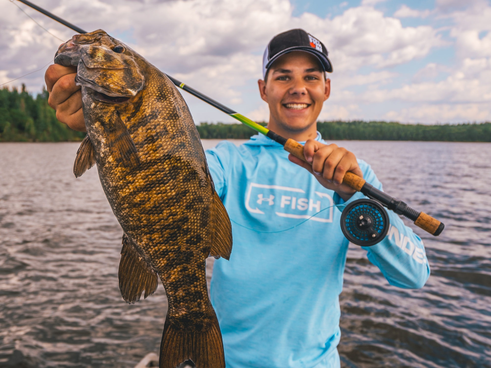 Fly-fishing Manitoba smallmouth bass