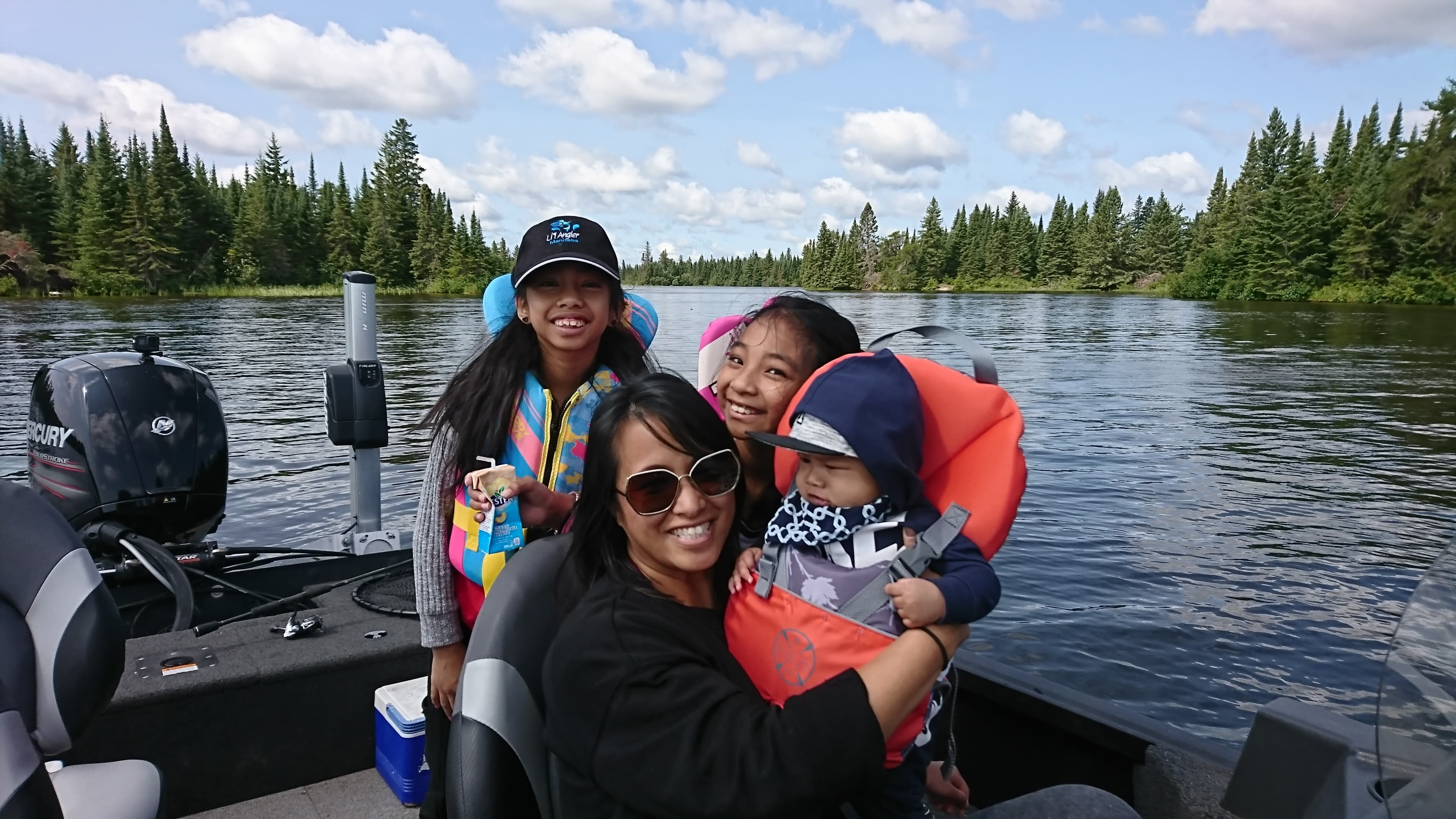 Family fishing vacation at Trail End Camp