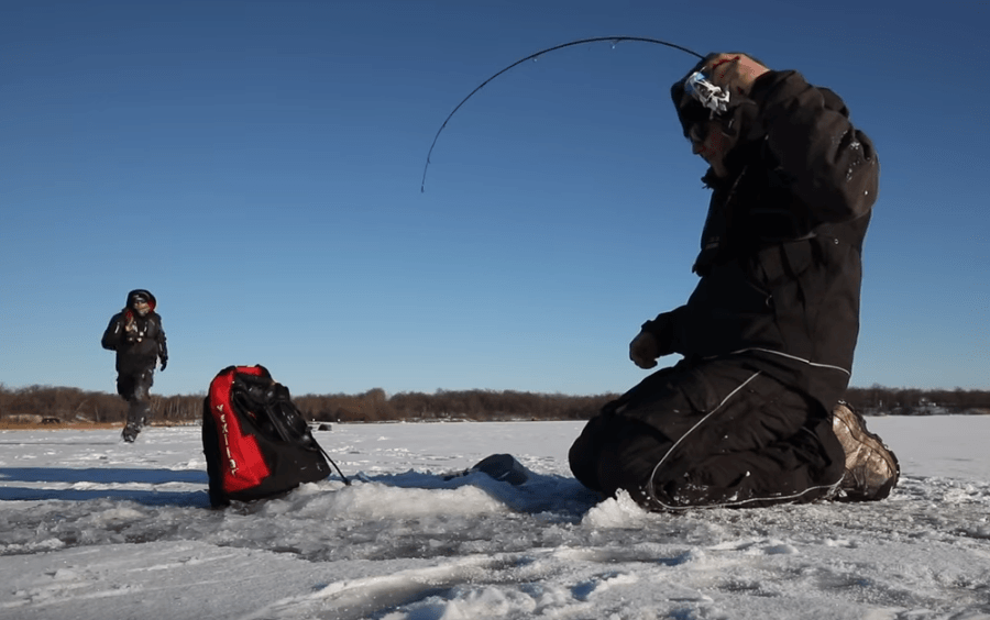 Ice Fishing on Bower Lake
