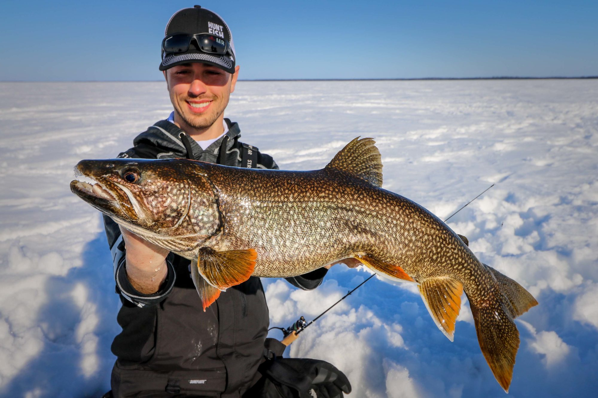 Ice fishing at Wekusko Falls Lodge