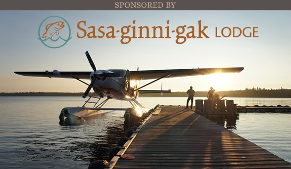 Sasaginnigak Lodge dock image and logo