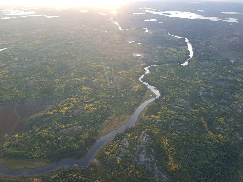 Flying over Northern Manitoba