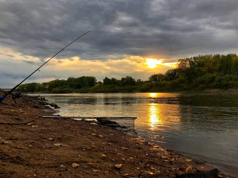 Shore Fishing for Hungry Channel Catfish on the Assiniboine