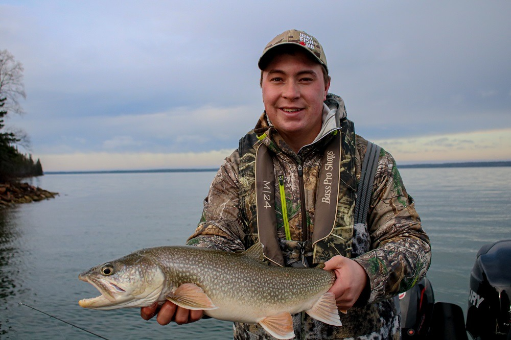 Keevin lake trout