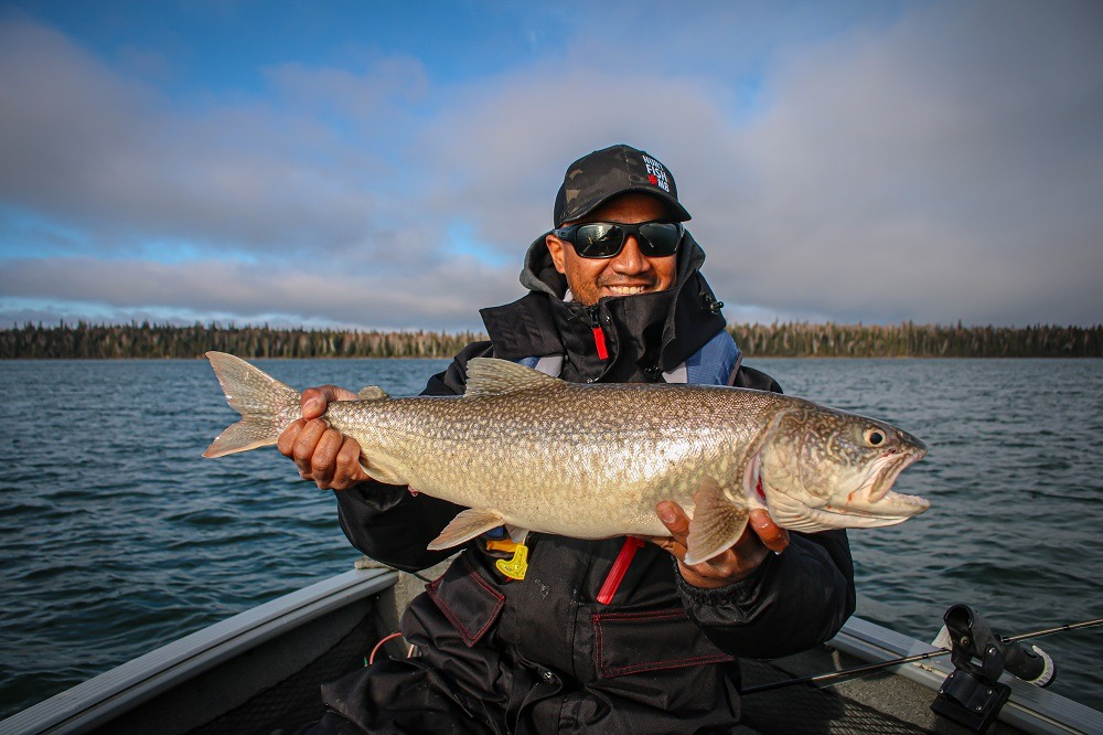Eric with not a record lake trout